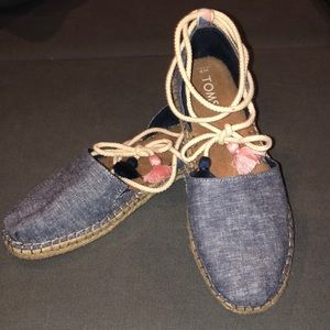 Chambray Toms Sandals